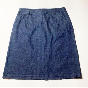 Boden straight skirt denim blue size 16L